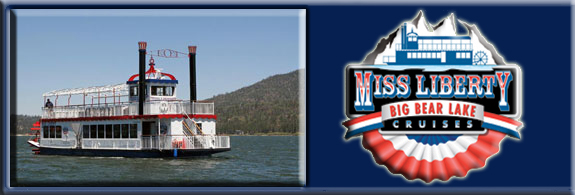 Miss Liberty Paddlewheel Tour Boat on Big Bear Lake